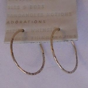 ANTHROPOLOGIE POLISHED GOLD TEXTURED SIMPLE LARGE
